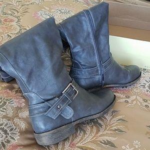 Diba Grey Knee High Boots